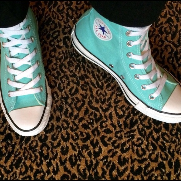 converse Shoes - Sea foam green converse high tops 0bc8ebb45